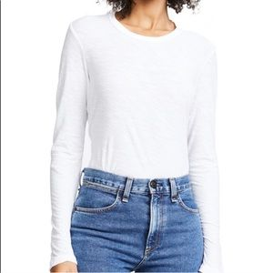 NWT James Perse White Burnout Lomg Sleeve Top 3
